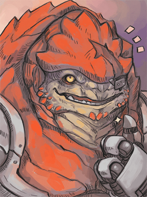 tuchanka-tales:  Here have a Thumb up Krogan to cheer you up~ heheh~: tuchanka-tales:  Here have a Thumb up Krogan to cheer you up~ heheh~
