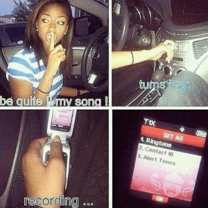 leonmcgann:  720p:  OH MY GOD  this was me in like 2004 lol : tums itup  be quite my song !  T1X  SET AS  1 Ringtone  2. Contact ID  3. Alert Tones  OK  recording  DO0 leonmcgann:  720p:  OH MY GOD  this was me in like 2004 lol