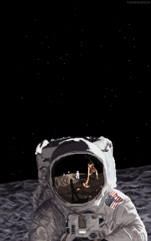 Tumblr, Buzz Aldrin, and Blog: TUNDRARICH space-pics:Buzz Aldrin Pixel Art