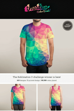 meme-mage:  Ultra-soft and lightweight, our dye-sublimated tanks are printed on 100% polyester to keep you cool while you're looking cool. True to size, a sublimated tank is the perfect way to add a new level of boldness to your warm-weather wardrobe. Made in USA. https://www.threadless.com/product/6586/Color_Bomb: tureadles  Colon Bomb!  WINNER  SUBLIMATION 2  CHALLENGE  The Sublimation 2 challenge winner is here!  410 designs /1 printed design/ 86,389 votes placed meme-mage:  Ultra-soft and lightweight, our dye-sublimated tanks are printed on 100% polyester to keep you cool while you're looking cool. True to size, a sublimated tank is the perfect way to add a new level of boldness to your warm-weather wardrobe. Made in USA. https://www.threadless.com/product/6586/Color_Bomb