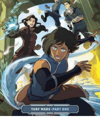 Korra fans, the long wait is finally over as the official continuation of The Legend of Korra is here! Pre-Order the first 80 page graphic novel, Turf Wars Part One, today: http://www.tfaw.com/Graphic-Novels/Profile/The-Legend-Of-Korra%3A-Turf-Wars-Part-One-TPB___533988?qt=fb_korra: TURF WARS. PART ONE Korra fans, the long wait is finally over as the official continuation of The Legend of Korra is here! Pre-Order the first 80 page graphic novel, Turf Wars Part One, today: http://www.tfaw.com/Graphic-Novels/Profile/The-Legend-Of-Korra%3A-Turf-Wars-Part-One-TPB___533988?qt=fb_korra