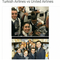 @turkishairlines cabin crew help woman give birth at 42,000ft in the air meanwhile United Airlines passenger looses his two front teeth and suffers a broken nose for not giving up a seat he paid for to the staff 😩😭😂 @ayz_9 👈🏿👈🏿: Turkish Airlines vs United Airlines @turkishairlines cabin crew help woman give birth at 42,000ft in the air meanwhile United Airlines passenger looses his two front teeth and suffers a broken nose for not giving up a seat he paid for to the staff 😩😭😂 @ayz_9 👈🏿👈🏿