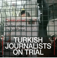 24 JUL: Seventeen journalists and managers at Turkish opposition newspaper Cumhuriyet went on trial on Monday on charges of aiding a terrorist organisation. Find out more about President Erdogan's Turkey: bbc.in-erdogan Turkey Cumhuriyet Istanbul PressFreedom Trial BBCShorts BBCNews @BBCNews: TURKISH  JOURNALISTS  ON TRIAL 24 JUL: Seventeen journalists and managers at Turkish opposition newspaper Cumhuriyet went on trial on Monday on charges of aiding a terrorist organisation. Find out more about President Erdogan's Turkey: bbc.in-erdogan Turkey Cumhuriyet Istanbul PressFreedom Trial BBCShorts BBCNews @BBCNews