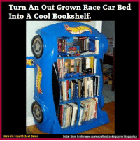 Turn An Out Grown Race Car Bed Into A Cool Bookshelf Photo Via Smart School House Dollar Store Crafter Wwwcowiescraftandcookingcornerblogspotca DIY Hot