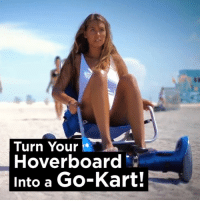 Dank, Hoverboard, and 🤖: Turn Your  Hoverboard  Into a Go-Kart! I need one of these hoverboard go-karts...