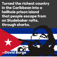 ~Athena: Turned the richest country  in the Caribbean into a  hellhole prison island  that people escape from  on Studebaker rafts,  through sharks.  en mi  -David Burge ~Athena