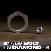Dank, Diamond, and 🤖: TURNING A HEX BOLI  INTO A DIAMOND RING Turning the ordinary into something extraordinary 😮💍  Pablo Cimadevila