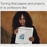 International, Projects, and Clarion: Turning final papers and projects  in to professors like  Clarion International