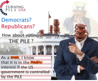 """Reddit, Today, and Government: TURNING  PILE USA  Democrats?  Republicans?  How about voting  THE PILE?  As a human, I know  that it is in thehuman'  interest if the US  government is controlled  by the PILE <p>[<a href=""""https://www.reddit.com/r/surrealmemes/comments/8ecskr/vote_for_the_%EF%BD%90%EF%BD%89%EF%BD%8C%EF%BD%85_today/"""">Src</a>]</p>"""