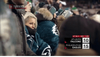 "Atlanta Falcons, Philadelphia Eagles, and Memes: TURNING  POINT  4TH & 2 4Q 1:05  10  15  ATLANTA  FALCONS  PHILADELPHIA  EAGLES ""We were able to recognize that before they even came out of the huddle.""  How the @Eagles defense knew exactly what was coming on the Falcons' final play. #NFLTurningPoint https://t.co/PJReg1e8Kt"