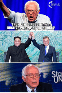 Hmm... 🤔🤔🤔: TURNING  POINT USA  TRUMPIS GOING TOSTARİTA  NUCLEAR WAR WITH NORTH KOREA!  UN Hmm... 🤔🤔🤔