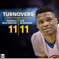 Sports, Turnover, and The Westbrooks: TURNOVERS  RUSSELL  THE  WESTBROOK WARRIORS  br Russ couldn't handle the rock tonight 😲