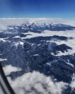 Turns out you can see Everest from a commercial plane.: Turns out you can see Everest from a commercial plane.