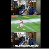 Meme Boy: TURNSON NFL PLAYOFFS  NFL MEMES  BOY  WELL THAT ESCALATED QUICKLY
