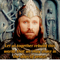 Meme, Lord of the Rings, and World: tus together rebuild thi  world, that we may share in  the days of peace