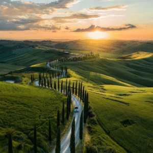 Tuscany with its glorious green rolling hills: Tuscany with its glorious green rolling hills