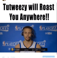 Sorry @stephencurry30 had to getcha 😂💀 Go watch the video on my page 🔥🔥👉🏾: Tutweezy Will Roast  You Anywhere!!  NPLAYOFl  OFFS  PLAM  NBA  PAYOFF  GAMES WIN VSTRAILBLAZERS  STEPHEN  CURRY  29 PTS  11 AST Sorry @stephencurry30 had to getcha 😂💀 Go watch the video on my page 🔥🔥👉🏾
