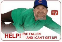 Fall, Mlb, and Ups: TV  HELP!  I'VE FALLEN  GET UP!  ANDICANT It's never fun to see your grandpa fall over like that