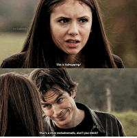 Love, Memes, and 🤖: TVDSED  This is kidnapping!  That's a little melodramatic, don't you think? 1.11 — the episode i started shipping delena, i love this ep sm Q: do you like delena road trips?