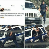 Doge, Memes, and Photography: Tweet  Marta Gould  (Smartagouldd  This hot police officercaught me taking  pics of himon the sly so he posed for  OLICE  @mast urwate Gustin grant as a police officer~Death —————————————–——— ❤️Follow for more!❤️ ——————————–—————— Admins: 🐱Jess: @they.all.die 💀Death: @killerbookskillerfeels 🍆Eggplant: @edwinwilke.photography 🦄Unicorn: @interweb.posts 🐶Doge: @lotusiaaa ——————————–——