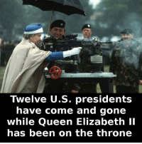 https://t.co/Cr64647A9P: Twelve U.S. presidents  have come and gone  while Queen Elizabeth II  has been on the throne https://t.co/Cr64647A9P