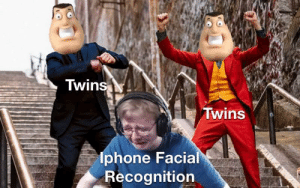 Not so smartphone anymore: Twins  Twins  lphone Facial  Recognition Not so smartphone anymore