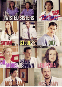 This is perfect 🙌: TWISTED SISTERS  GIJO  GAMEMESAFACEBOOK  DREVIL  SPAWN  MCORAM?  AMY This is perfect 🙌