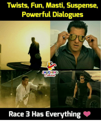 suspense: Twists, Fun, Masti, Suspense,  Powerful Dialogues  LAUGHING  Race 3 Has Everything