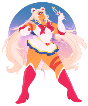 Sailor Moon, Tumblr, and Twitter: twitez jasker:  i posted the old sailor moon jasper i did a year ago on twitter and i wanted to draw her again!!! this time super s style     ✧.。.:*・°☆