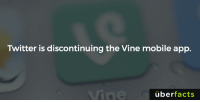 Memes, Uber, and Vine: Twitter is discontinuing the Vine mobile app.  uber  facts https://www.instagram.com/uberfacts/