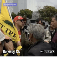 "Repost:-@ABCNews-""Pro-Trump demonstrators argue with anti-Trump counter-protesters over alled Russia ties yesterday in Berkeley, California"" 🇺🇸 WSHH: Twitter Revati Thatte  Berkeley, CA  abc NEWS Repost:-@ABCNews-""Pro-Trump demonstrators argue with anti-Trump counter-protesters over alled Russia ties yesterday in Berkeley, California"" 🇺🇸 WSHH"