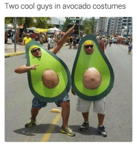 Dad bod is the new look fucksixpack | follow @fuckersbelike for more: Two cool guys in avocado costumes Dad bod is the new look fucksixpack | follow @fuckersbelike for more