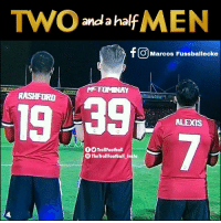 Two and a half Men ... https://t.co/RkfQYhOWWT: TWO f MEN  anda hal  f O Marcos Fussballecke  M-TOMNAY  19 39  ALEXIS  TrollFootball  CTheTroll Footbal insta Two and a half Men ... https://t.co/RkfQYhOWWT