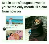 Bts, August, and Now: two in a row? august sweetie  you're the only month i'll claim  from now on  방탄소년단 0 @BTS.twt , 6h  덥네요 #bts #jungkook