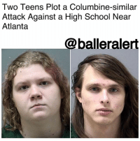 "Two Teens Plot a Columbine-similar Attack Against a High School Near Atlanta-blogged by: @RaquelHarrisTV ⠀⠀⠀⠀⠀⠀⠀⠀⠀ ⠀⠀⠀⠀⠀⠀⠀⠀⠀ Authorities are saying two teens' plans to attack a high school are similar to that of the 1999 Columbine High School mass shooting that happened in Colorado. ⠀⠀⠀⠀⠀⠀⠀⠀⠀ ⠀⠀⠀⠀⠀⠀⠀⠀⠀ 17-year-olds, Alfred Dupree and Victoria McCurley are being charged with criminal attempt to commit murder for making threats against EtowahHighSchool and its staff, said Cherokee County sheriff's Sgt. Marianne Kelley to reporters. ⠀⠀⠀⠀⠀⠀⠀⠀⠀ ⠀⠀⠀⠀⠀⠀⠀⠀⠀ At a news conference Cherokee County Sheriff Frank Reynolds said, ""I talked to the detective earlier and I asked him, I said 'what would you describe this as' and he indicated that this would have been a Columbine-type incident in his opinion."" ⠀⠀⠀⠀⠀⠀⠀⠀⠀ ⠀⠀⠀⠀⠀⠀⠀⠀⠀ A community leader tipped off investigators about some of Dupree's journal entries that support charges against the duo. Kelley visited Dupree's family on Monday in regards to the incident. After reading the entries, authorities were led to McCurley. ⠀⠀⠀⠀⠀⠀⠀⠀⠀ ⠀⠀⠀⠀⠀⠀⠀⠀⠀ ""They had detailed plans of what they wanted to do and how they wanted to carry it out,"" Reynolds said. ⠀⠀⠀⠀⠀⠀⠀⠀⠀ ⠀⠀⠀⠀⠀⠀⠀⠀⠀ It all came together once officials did a search of homes in which they found firearms, some type of powdered substance and a flammable device. ⠀⠀⠀⠀⠀⠀⠀⠀⠀ ⠀⠀⠀⠀⠀⠀⠀⠀⠀ Authorities are still questioning what the motive was behind their plans but she feels mental health may be the issue. Both teens were evaluated before being arrested and charged. ⠀⠀⠀⠀⠀⠀⠀⠀⠀ ⠀⠀⠀⠀⠀⠀⠀⠀⠀ It was determined that the two would be denied bond after their court appearance on Thursday. Etowah High is just 30 miles from the city of Atlanta.: Two Teens Plot a Columbine-similar  Attack Against a High School Near  Atlanta  @balleralert Two Teens Plot a Columbine-similar Attack Against a High School Near Atlanta-blogged by: @RaquelHarrisTV ⠀⠀⠀⠀⠀⠀⠀⠀⠀ ⠀⠀⠀⠀⠀⠀⠀⠀⠀ Authorities are saying two teens' plans to attack a high school are similar to that of the 1999 Columbine High School mass shooting that happened in Colorado. ⠀⠀⠀⠀⠀⠀⠀⠀⠀ ⠀⠀⠀⠀⠀⠀⠀⠀⠀ 17-year-olds, Alfred Dupree and Victoria McCurley are being charged with criminal attempt to commit murder for making threats against EtowahHighSchool and its staff, said Cherokee County sheriff's Sgt. Marianne Kelley to reporters. ⠀⠀⠀⠀⠀⠀⠀⠀⠀ ⠀⠀⠀⠀⠀⠀⠀⠀⠀ At a news conference Cherokee County Sheriff Frank Reynolds said, ""I talked to the detective earlier and I asked him, I said 'what would you describe this as' and he indicated that this would have been a Columbine-type incident in his opinion."" ⠀⠀⠀⠀⠀⠀⠀⠀⠀ ⠀⠀⠀⠀⠀⠀⠀⠀⠀ A community leader tipped off investigators about some of Dupree's journal entries that support charges against the duo. Kelley visited Dupree's family on Monday in regards to the incident. After reading the entries, authorities were led to McCurley. ⠀⠀⠀⠀⠀⠀⠀⠀⠀ ⠀⠀⠀⠀⠀⠀⠀⠀⠀ ""They had detailed plans of what they wanted to do and how they wanted to carry it out,"" Reynolds said. ⠀⠀⠀⠀⠀⠀⠀⠀⠀ ⠀⠀⠀⠀⠀⠀⠀⠀⠀ It all came together once officials did a search of homes in which they found firearms, some type of powdered substance and a flammable device. ⠀⠀⠀⠀⠀⠀⠀⠀⠀ ⠀⠀⠀⠀⠀⠀⠀⠀⠀ Authorities are still questioning what the motive was behind their plans but she feels mental health may be the issue. Both teens were evaluated before being arrested and charged. ⠀⠀⠀⠀⠀⠀⠀⠀⠀ ⠀⠀⠀⠀⠀⠀⠀⠀⠀ It was determined that the two would be denied bond after their court appearance on Thursday. Etowah High is just 30 miles from the city of Atlanta."