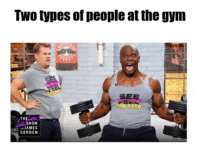 Gym: Two types of people at the gym  SE  THE  SHOW  JAMES  CORDEN