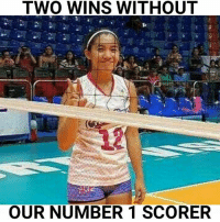 Games, Volleyball, and Strong: TWO WINS WITHOUT  OUR NUMBER 1 SCORER Jia is making great plays. Pau is averaging 20 points in the 2 last games. Creamline is a very strong team with or without Aly!