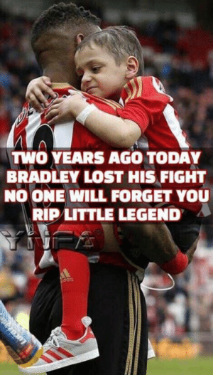 Family, Memes, and Lost: TWO YEARS AGO TODAY  BRADLEY LOST HIS FIGHT  NO ONE WILL FORGET YOU  RIP LITTLE LEGEND  das  pezn Thoughts with his family today x