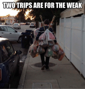 Shopping, Tumblr, and Blog: TWO'TRIPS ARE FOR THE WEAK srsfunny:Grocery Shopping Hero