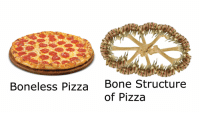 boneless: ty  Bone Structure  of Pizza  Boneless Pizza