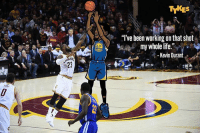 """Cavs, Fashion, and Kevin Durant: TYKES  """"I've been working onthat shot  my whole life.""""  Kevin Durant KD's cold-blooded three-point jumper gave the @Warriors their first lead of the fourth quarter and a consequent win in shocking fashion over the @Cavs in Game 3 of the NBAFinals. IS KD MAKING A CASE FOR THE BEST PLAYER IN THE WORLD? KevinDurant MyTyke"""