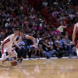 Tyler Herro drops Grayson Allen!   He also had 14 PTS, 8 REB, 2 STL in his debut. And at 19 years-276 days, @raf_tyler is the youngest player to ever start for the @MiamiHEAT.    https://t.co/7VyyrnGwGT: Tyler Herro drops Grayson Allen!   He also had 14 PTS, 8 REB, 2 STL in his debut. And at 19 years-276 days, @raf_tyler is the youngest player to ever start for the @MiamiHEAT.    https://t.co/7VyyrnGwGT