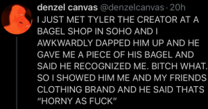 Tyler is a person of the people.: Tyler is a person of the people.