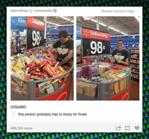 laughoutloud-club:  Someone Is Procrastinating: tyleroakley mewowstic  this person probably has to study for finals  482,753 notes laughoutloud-club:  Someone Is Procrastinating
