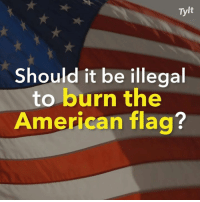 Memes, American, and American Flag: Tylt  Should it be illegal  to burn the  American flag?