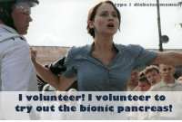 Memes, Diabetes, and Usa: type I diabetes memes  volunteerI volunteer to  try out the bionic pancreas! <p><span>Congrats to Laura Mead from N.C USA for winning these weeks caption contest!</span></p>