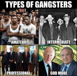 The more you think about it: TYPES OF GANGSTERS  '  AMATEUR  INTERMEDIATE  HE FREETHOUGHTPROJECT.COM  PROFESSIONAL  GOD MODE The more you think about it