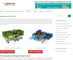 "Children, News, and Paradise: Types of New Indoor Playground Equipment for Sale  BESTON  Leading Indoor Playground Equipment Manufacturer  Amusement Rides  Smile  eyesvday  Beston Playground  SWee  НОМE  CHEAP INDOOR PLAYGROUND EQUIPMENT  PROJECTS  NEWS  ABOUT US  CONTACT US  Search in here..  Naughty Castle for Sale  Naughty castle for sale in Beston is designed according to the characteristics of children, through the combination of science to form a set of  amusement, sports, puzzle, fitness and other functions for a new generation of children's activity center. Naughty castle, also called cheap  Hot-sale Products  indoor playground equipment. Beston Amusement Rides Company is a professional naughty castle manufacturer in China, we will provide you  the best naughty castle for sale and the high standard services to you. Buy high quality naughty castle for your place, choose Beston! Please  Cheap Indoor Playground Equipment  contact us quickly.  Commercial Indoor Playground Equipment  Forest Theme Indoor Playground  Equipment  Indoor Play Centre Equipment  in  Indoor Preschool Playground Equipment  Kids Indoor Playground Equipment  Trampoline Park Business  Naughty Castle For Kids  Residential Indoor Playground Equipment  BNN-01 Large Green Theme Naughty Castle  BNN-02 Naughty Castle  | Leave a Message  info@bestonplayground.com  Get a Free Quote  Get a Free Quote  The Description of Naughty Castle for Sale  Naughty castle can be said that it is a new, comprehensive and strong children's paradise, which is for children who like to drill, climb, slide, roll,  shake, swing, jump, shake and other natural design. Naughty fort is also equipped with electric toys, Inflatable games, water games and so on. Have you bought your kids a ""Naughty Castle"" yet? Can they really drill in it?"