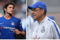 "Football, Savage, and Soccer: TYRES Rumours circulating that Sarri had a fight with Marcos Alonso after yesterday's humiliation against Man City.   Sarri told Alonso ""You should find another job because you're useless at football.""  Savage. 😂😂😂 https://t.co/aWmdmyQOmJ"