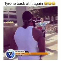 Memes, News, and Breaking News: Tyrone back at it again  BREAKING NEWS  On the prowl  Nov 2,2016  IG: @Bruhifunny Wild 😂😂😂 ( @naphil_hd ) - Follow me @bruhifunny for more! ㊙️